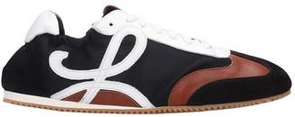 Loewe Ballet Runner Sneakers In Black Synthetic Fibers