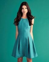 Yumi Embellished Jacquard Skater Dress