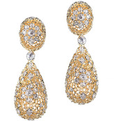 Jarin K Jewelry - Filigree Drop Clip Earrings