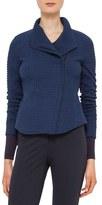 Akris Punto Women's Asymmetrical Zip Jacquard Jersey Jacket