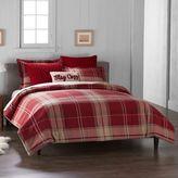 Cuddl Duds 6-Piece Red Plaid Flannel Comforter Set