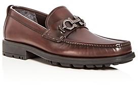 Salvatore Ferragamo Men's David Leather Loafers - Wide