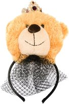 Dolce & Gabbana teddy bear hair band - women - Polyester/Crystal/Brass - One Size