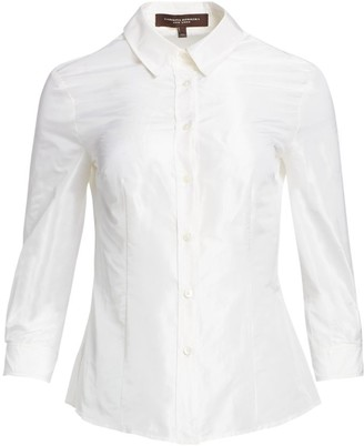 Carolina Herrera Signature Taffeta Blouse