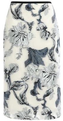 Erdem Grosgrain-trimmed Metallic Fil Coupe Organza Skirt