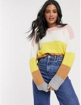 Brave Soul ahoy colourblock stripe jumper