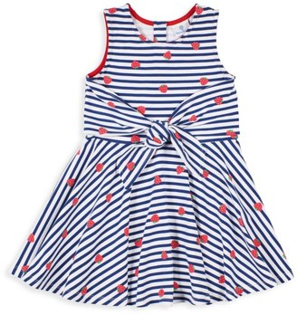 Florence Eiseman Little Girl's Striped Strawberry Twisted Dress
