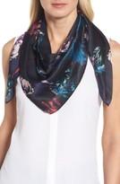 Halogen Women's Floral Print Silk Scarf