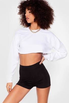 Nasty Gal Womens High-Waisted Fitted Shorts with Stretch Waist - Black