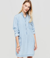 LOFT Lou & Grey Chambray Shirtdress