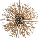 The Well Appointed House Natural Wood Branches Orb Chandelier