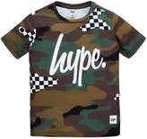 Hype Boys Short Sleeved Checkerboard Camo T-Shirt