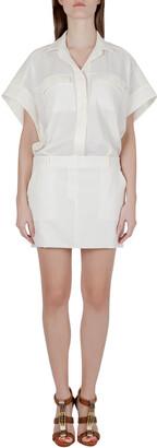 IRO Cream Stretch Crepe Helea Combo Dress M