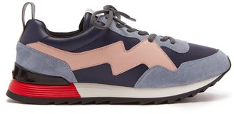 Mulberry MY-1 Lace-up Sneaker Navy and Pink Soft Lamb Nappa