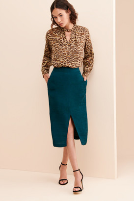 Endless Rose Textured Rib Pencil Skirt