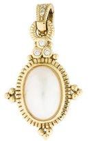 Judith Ripka 18K Pearl & Diamond Pendant