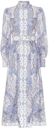 Zimmermann Exclusive to Mytheresa Paisley linen midi dress