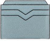 Valextra Leather Card Case, Light Gray