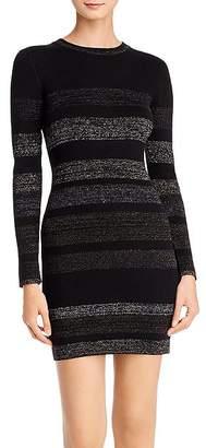 Aqua Metallic-Stripe Rib-Knit Sweater Dress - 100% Exclusive