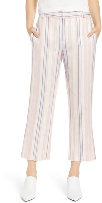 Rebecca Minkoff Ginger Striped Linen Blend Pants