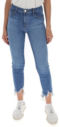 J Brand Ruby Frayed Edge Cropped Jeans