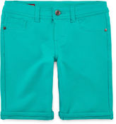 Arizona Knit Roll-Cuff Bermuda Shorts - Girls 7-16 and Plus