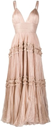Maria Lucia Hohan Pleated Ruffled Detail Dress