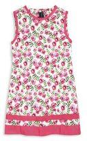 Oscar de la Renta Girl's Spring Pansies Cotton A-Line Dress