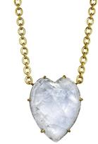Irene Neuwirth Small Rose Cut Rainbow Moonstone Heart Necklace