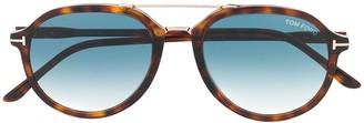 Tom Ford Tortoiseshell Gradient Sunglasses