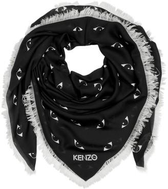 Kenzo Multi Eyes Printed Modal & Silk Wrap