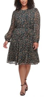 Tommy Hilfiger Plus Size Animal-Print Dress
