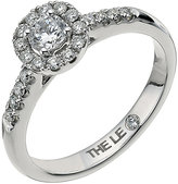Leo Diamond Leo Diamond18ct white gold 0.50ct I-I1 round halo ring