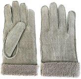 Canali herringbone gloves