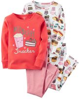 Carter's Baby Girl 4-pc. Print Pajama Set