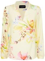 James Lakeland Mandarin Collar Floral Blouse