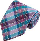 Barneys New York Textured Plaid Tie