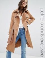 Glamorous Petite Corduroy Trench Coat With Belt