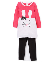 Good Lad Hot Pink Bunny Tunic & Leggings - Girls
