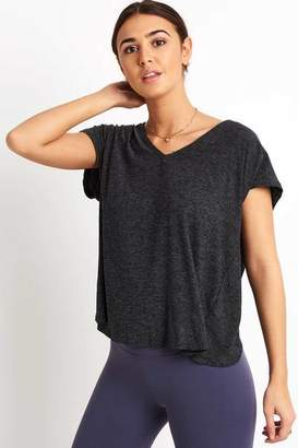 Beyond Yoga Charcoal Featherweight Easy Does It T-Shirt - XS - Black