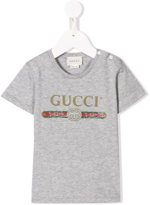 Gucci Kids grey logo T-shirt