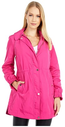 Kate Spade Hooded Anorak (Cabaret) Women's Coat