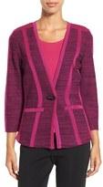 Ming Wang Women's Knit V-Neck Jacket