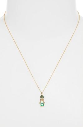 Daniela Villegas Khepri Tsavorite & Emerald Pendant Necklace