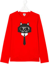 Karl Lagerfeld Choupette long-sleeved top - kids - Cotton - 14 yrs