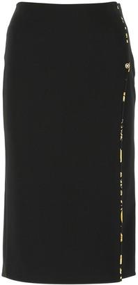 Versace Slit Midi Pencil Skirt