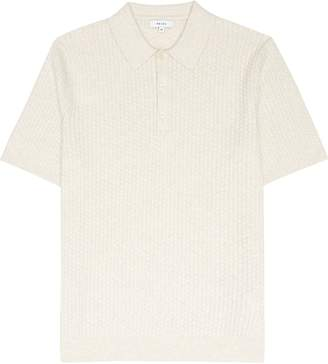 Reiss Alfred - Textured Polo Shirt in Oatmeal
