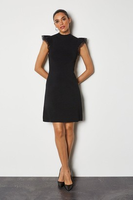 Karen Millen Lace Sleeve Bodycon Dress