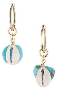 Dannijo Women's Fin Turquoise Drop Earrings