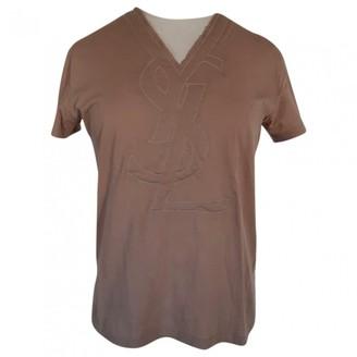 Saint Laurent Camel Cotton Top for Women